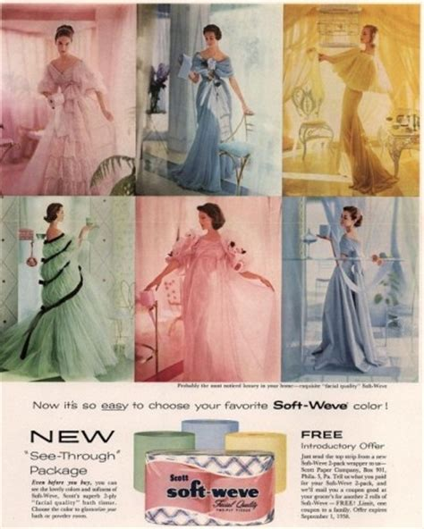 Colored Bathroom Tissue by Colored Toilet Paper Matched Dresses In The 1950s Now