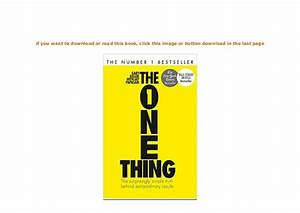 Hardcover    The One Thing The Surprisingly Simple Truth