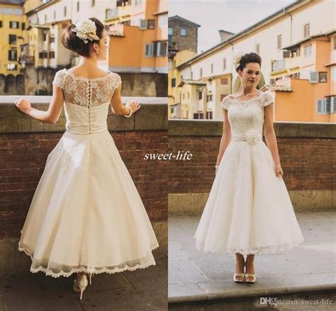 Discount 50s Style Retro Vintage Wedding Dresses 2017