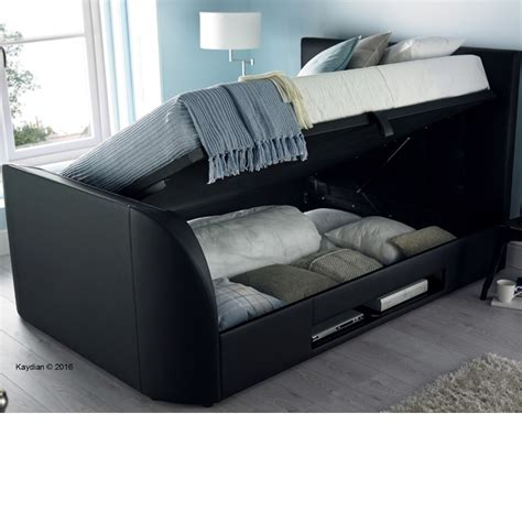 Leather Ottoman Bed by Barnard Black Leather Tv Ottoman Storage Bed