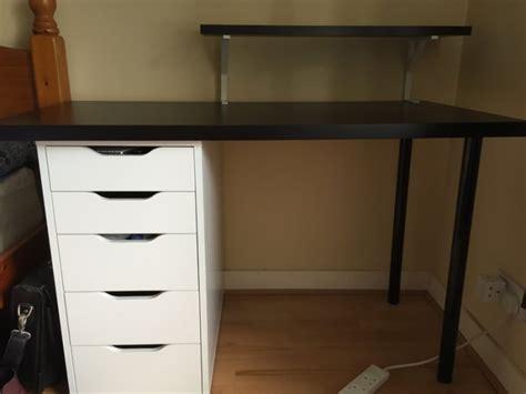 linnmon alex desk black ikea pc desk with drawers linnmon alex for sale in