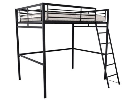 chambre mezzanine ado lit mezzanine 140x190 cm 2 coloris noir vente de