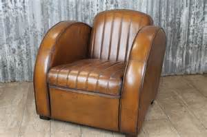 vintage retro art deco style leather armchair library