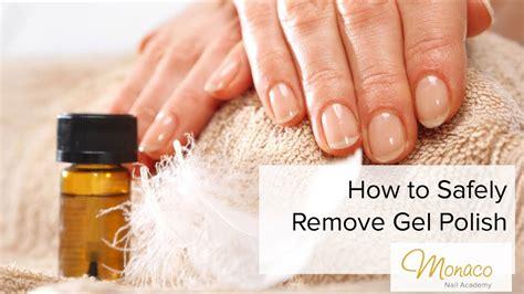 polish gel remove safely