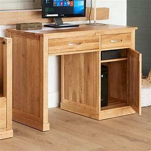 Mobel Oak Single Pedestal Computer Desk Solid Build