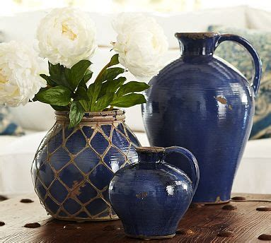 ideas  blue vases  pinterest entry table