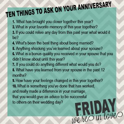 questions     anniversary