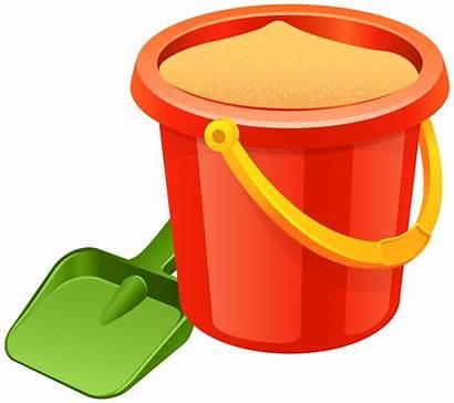 Shovel Pail Sand Transparent Clip Clipart Bucket