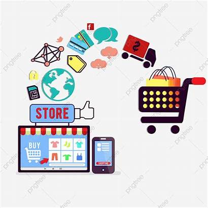 Commerce Shopping Concept Psd Internet Character Pngtree