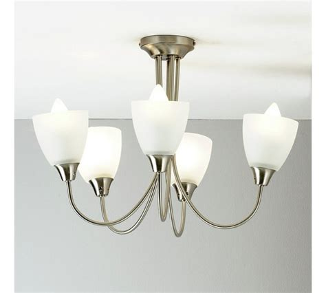 buy home symphony 5 light ceiling fitting silver at