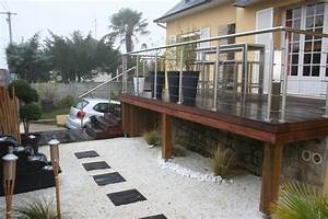 terrasse sur pilotis et jardin zen contemporain With delightful faire un jardin zen exterieur 6 la decoration exterieure avec un treillis de jardin