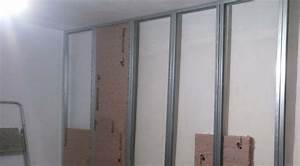 Poser Placo Mur Avec Rail : poser placo mur avec rail pose rail placo mur sans plafond 16 messages mur pose de placo sur ~ Melissatoandfro.com Idées de Décoration