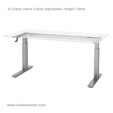 hand crank adjustable desk esi q crank adjustable height table hand crank