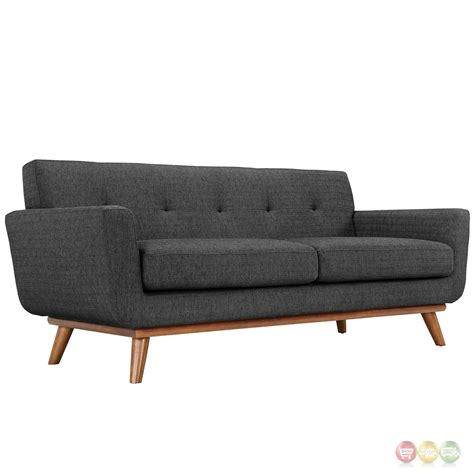 contemporary sofa and loveseat engage modern 2pc upholstered button tufted loveseat and