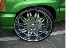 MEAN GREEN Cadillac Escalade EXT 32's Big Rims Custom