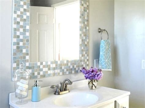 Tiled Bathroom Mirrors by Best 25 Tile Mirror Frames Ideas On Tile