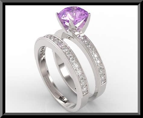 Amethyst Diamond Wedding Ring Set  Vidar Jewelry  Unique. Flat Wedding Wedding Rings. 24 K Rings. 9ct Gold Wedding Rings. 2.50 Carat Engagement Rings. V Name Wedding Rings. Wedding Tacori Wedding Rings. Love Name Engagement Rings. 20 Carat Rings