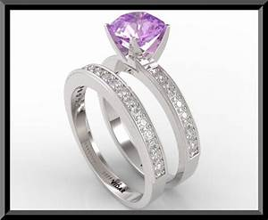 amethyst diamond wedding ring set vidar jewelry unique With amethyst diamond wedding ring set