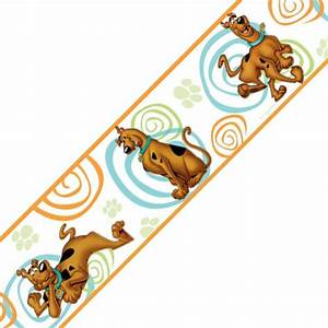 scooby doo swirls set of 4 self stick wall borders With kitchen cabinets lowes with scooby doo wall art