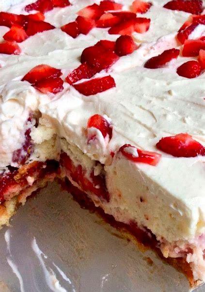 The texture of this classic treat falls between. No-Bake Strawberry Shortcake Lasagna - Recipes - Faxo