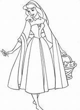 Sleeping Coloring Beauty Pages Printable Disney Aurora Princess sketch template