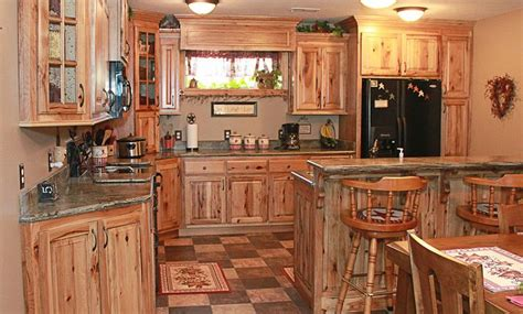 kitchen knotty hickory kitchen cabinets rustic hickory