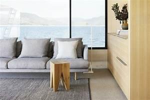 Amenagement interieur peniche luxe avec touche scandinave for Canapé convertible scandinave pour noël decor de chambre a coucher moderne