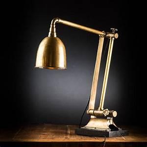 vintage articulated brass desk lamp felix lighting With floor lamp 1m