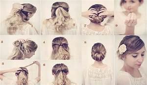 Coiffure Mariage Facile Cheveux Mi Long : coiffure mariage cheveux mi long facile a faire ~ Nature-et-papiers.com Idées de Décoration
