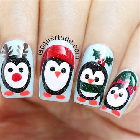 christmas penguin nail art designs ideas stickers