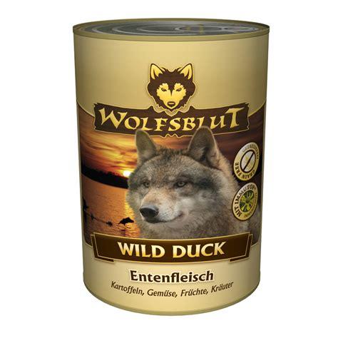 wolfsblut nassfutter dose wild duck von wolfsblut guenstig