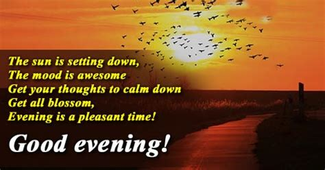 Good Evening Sms Quotes English
