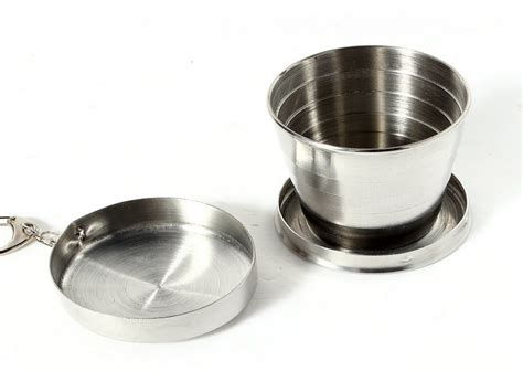 75 ml to cups high quality outdoor scalable portable travel cing stainless steel folding 75ml collapsible