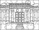 Temple Coloring Solomon Pages sketch template