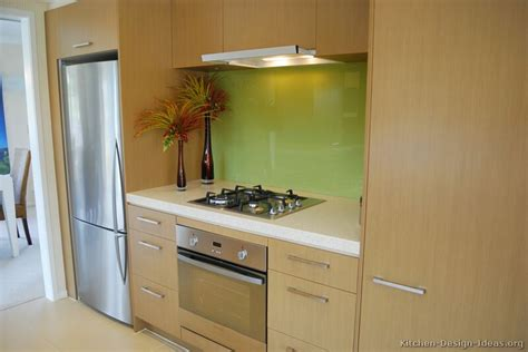 Kitchen Backsplash With Light Cabinets by Kitchen Of The Day Modern Light Wood Kitchens Green