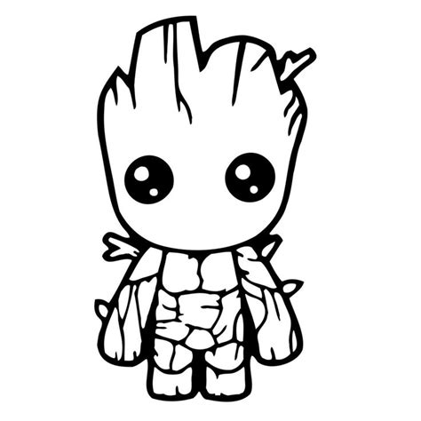 baby groot decal decals stickers avengers coloring