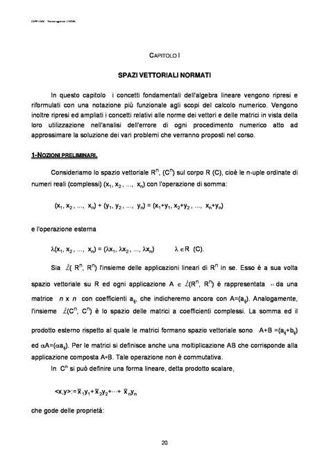 dispense informatica dispensa di informatica spazi vettoriali normati dispense