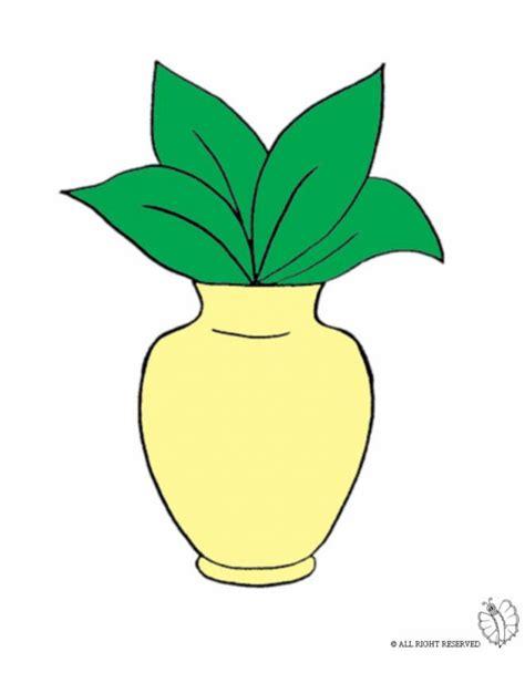 disegno  vaso  pianta  colori  bambini