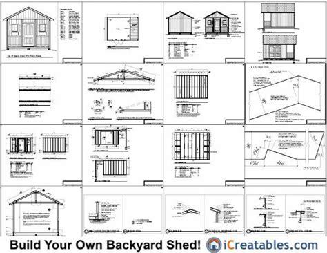 12x16 shed plans pdf nanda