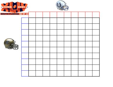 Bowl 2015 Squares Template by 8 Best Images Of Large Printable Blank Weekly
