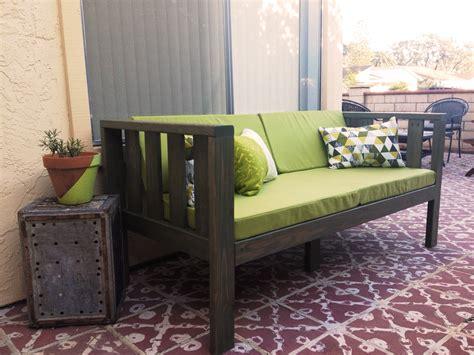 Diy Loveseat by Our Diy Patio Sofa Vivagood