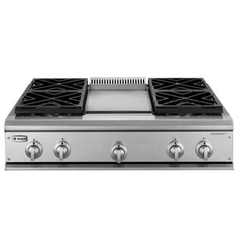 ge monogram  professional gas cooktop   burners