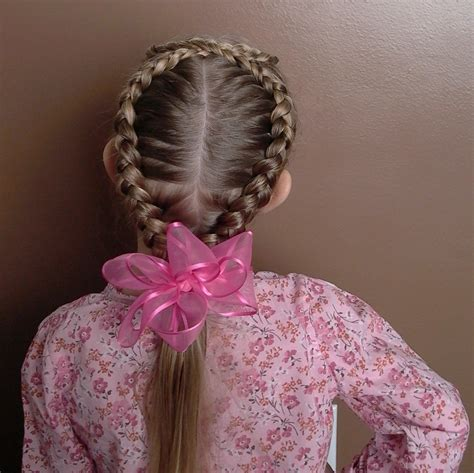 These haircuts are going to be huge in 2021. Little Girl's EASTER Hairstyle - Figure 8 French Braid 20 ...