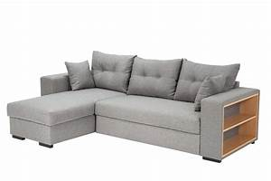 canape d39angle reversible convertible camelia tissu gris With canapé d angle domus