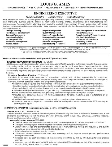 director of operations resumes resume exles sle resume