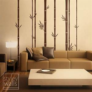 25 best images about interiors wall paints on pinterest for Bamboo wall art