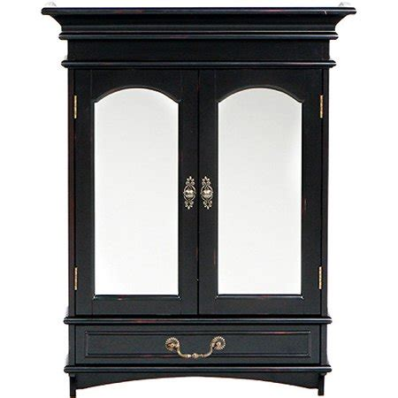 Black Jewelry Armoire Walmart by Fisher Wall Mount Jewelry Armoire Black Walmart