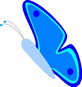 Blue Butterfly Clip Art - Cliparts.co