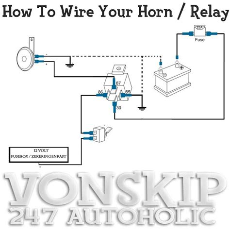12v Horn Relay Wiring Diagram by 247 Autoholic Thursday Tech Specs Wire Your Horn