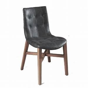 Chaise Vintage Cuir : chaise zeus vintage gris fonce les meubles du chalet ~ Teatrodelosmanantiales.com Idées de Décoration